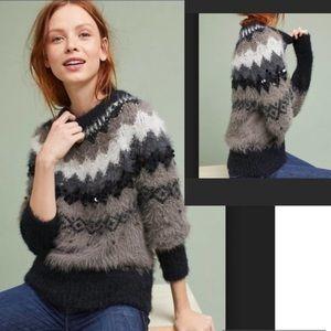 Anthropologie Sleeping On The Snow Beaded Sweater